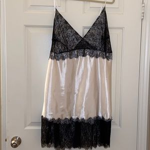 Other - A white satiny sleep gown w/ eyelash lace